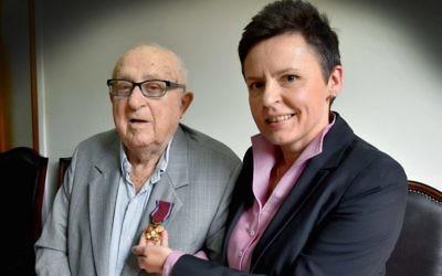 Communal stalwart Julius Nadel (left) has passed away aged 101.