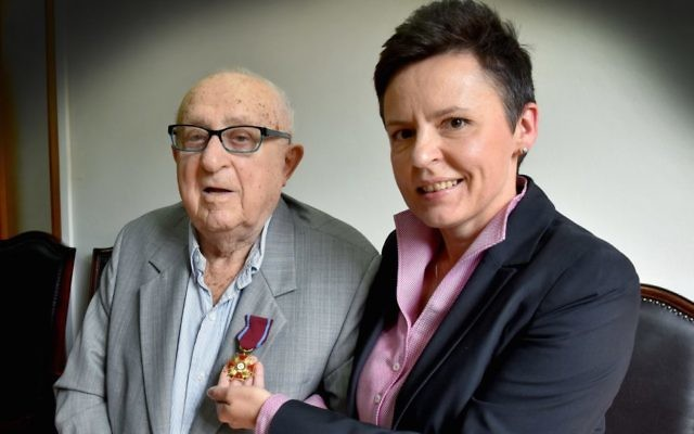 Communal stalwart Julius Nadel (left) has passed away aged 101.