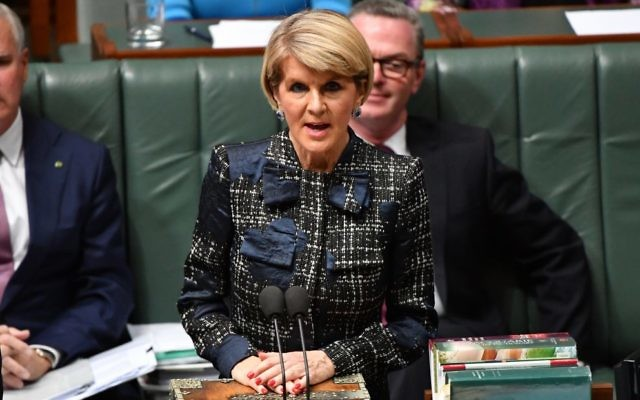 Julie Bishop in Parliament last week. Photo: AAP Image/Mick Tsikas