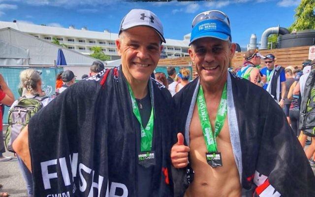 Paul Ephron (left) and Brett Yudelman in Cairns.