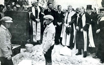 Lord Arthur Balfour and Chaim Weizmann were among the dignitaries at the laying of the Hebrew University's cornerstone 100 years ago.