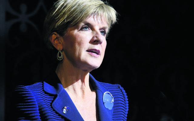 Australia's Foreign Minister Julie Bishop. Photo: Noel Kessel