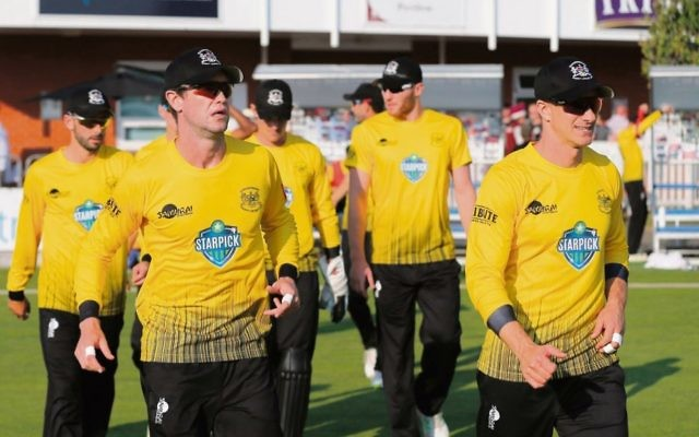 Michael Klinger (far right) has returned to the UK to lead Gloucestershire in the T20 Blast. Photo: Gloucestershire Cricket