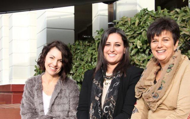 From left: Author Kerri Sackville, Gennarocity Abroad founder Genna Radnan and the Great Synagogue's vice-president Caroline Lewis. Photo: Shane Desiatnik
