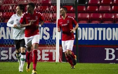 Ryan Blumberg has made his professional debut in English football. Photo: Charlton Athletic FC.