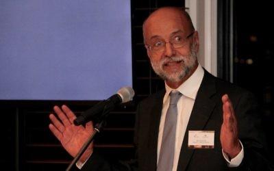 Professor Israel Bar-Joseph speaking at the Garvan-Weizmann Centre for Cellular Genomics' first birthday celebration in Sydney. Photo: Shane Desiatnik