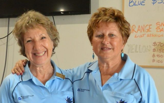 NSW duo Maxine Brem (left) and Sandy Desiatnik after winning the ladies' pairs section 2 final for the second year in a row.