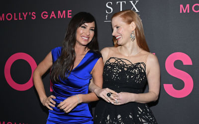 Jessica Chastain (right) took on the role of Molly Bloom (left) in the Oscar-nominated film Molly's Game. Photo: Getty/Mike Coppola