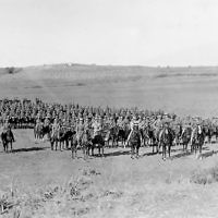 Allied mounted troops in the Battle of Megiddo. Photo: UK National Army Museum