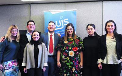 From left: Shira Rosenblum, Gary Hofman, Gabriella Davis, Josef Wilkinson, Ariel Mekler-Peled , Ruby Herman and Natasha Connors. Absent: Joshua Kirsh.