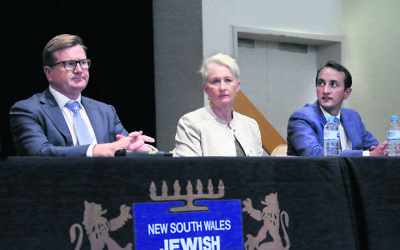 From left: Tim Murray, Dr Kerryn Phelps, Dave Sharma. Photo: Noel Kessel