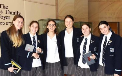 Year 12 Moriah College students.