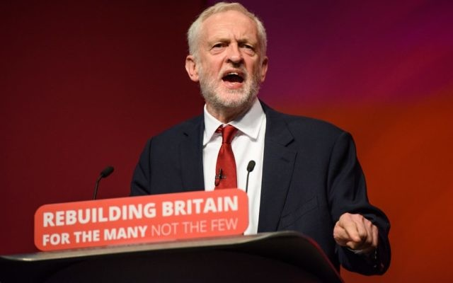 Labour Leader Jeremy Corbyn speaks during the Labour Party annual conference at the Arena and Convention Centre (ACC), in Liverpool.  Photo: Matt Crossick/ EMPICS Entertainment.