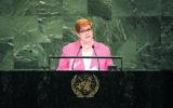 Marise Payne addressing the UN General Assembly. Photo: UN Photo/Loey Felipe