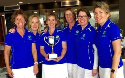 From left: NSW team members Jenny Harris, Adrienne Sender, Jody Drutman (captain), Liz Trollop, Terry Katz and Lyn Katz.