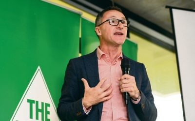 Federal Greens Leader Richard Di Natale. Photo: AAP Image/Penny Stephens