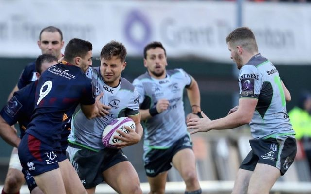 David Horwitz on the charge for Connacht in their 22-10 win against Perpignan in Galway on December 8. Photo: Connacht Rugby Club