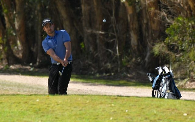 Jeremy Fuchs in the 2018 Seaside Classic. He is playing in stage one of the 2019 PGA Tour of Australasia Qualifying School series at Riverside Oaks from December 5-7. Photo: Ivan Sajko/Port Macquarie News