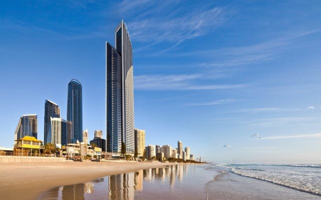Surfers Paradise with Peppers Soul rising just metres away from the beach.
