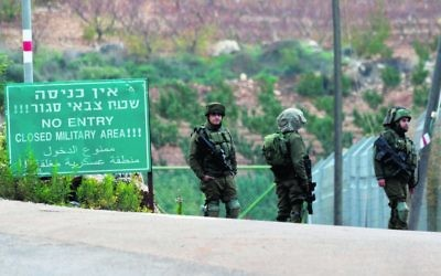 IDF personnel in Metulla on Tuesday. Photo: AP Photo/Ariel Schalit