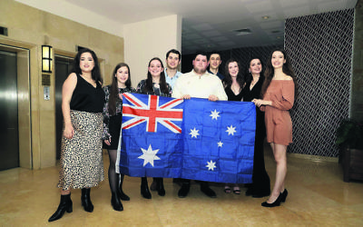 AUJS delegates at the WUJS Congress.