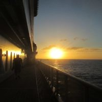 Alex Kats entered this sunset photo taken on a South Pacific cruise.