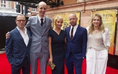 The driving force behind Harry Potter and the Cursed Child (from left) producer Colin Callender, writer Jack Thorne, author J K Rowling, director John Tiffany and producer Sonia Friedman at the London premiere in 2016. Photo: Dan Wooller