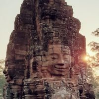 David Golshevsky entered this sunrise photo taken at the Angkor Wat temple in Siem Reap, Cambodia.
