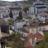 Evelyn Flitman on holiday in Obidos Portugal.