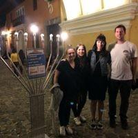 Jessica Nash and Tali Esterman with friends in Antigua in Guatemala.
