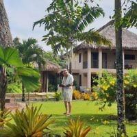 Karen Kacser entered this photo of husband Peter praying in Viti Levi, Fiji.