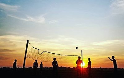 Rachel Flitman entered this photo of a volleyball game in Rurrenabaque (the Amazonian jungle in Bolivia) at dusk.
