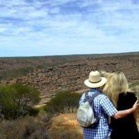 Sue Werman entered this photo of Mark and Laura Werman overlooking Kalbarri National Park.