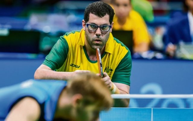 Barak Mizrachi in the green and gold. Photo: AAP Image/Sport the Library, Drew Chislett