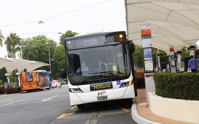 The number 900 bus heading from Chadstone to Oakleigh. Photo: Peter Haskin.