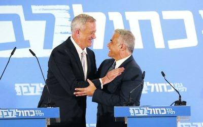 Benny Gantz (left) and Yair Lapid. Photo: EPA/Abir Sultan