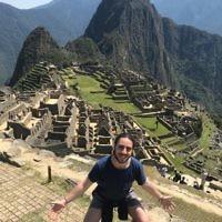 Ryan Brick at Machu Picchu in Peru.