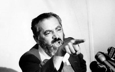 Rabbi Meir Kahane. Photo: Gene Kappock/NY Daily News Archive via Getty Images