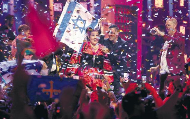 Israel's Netta Barzilai winning last year's Eurovision song contest.  Photo: AP Photo/Armando Franca