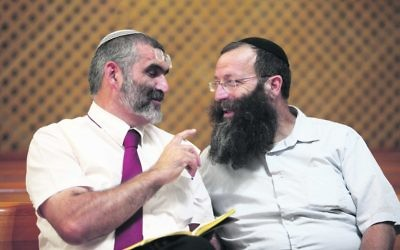 Otzma Yehudit's Michael Ben-Ari (left), and Baruch Marzel. Photo:Yoav Ari Dudkevitch/Flash90