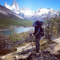 Rachel Flitman entered this photo of Iddo Snir hiking in El Charlten, Argentina.