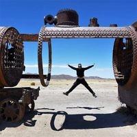 Rachel Flitman entered this photo of Iddo Snir at the train cemetery near San Pedro de Atacama, Chile.