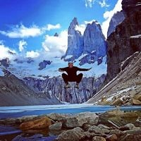Rachel Flitman entered this photo of Iddo Snir at Torres del Paine, Patagonia, Chile.