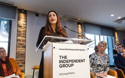 Luciana Berger MP and six other MPs announce their resignation from the Labour Party. Photo: EPA/Vickie Flores