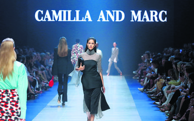 Camilla and Marc at VAMFF. Photo: Peter Haskin