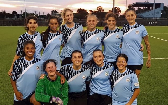 Maccabi FC Caulfield – Women's starting XI for their round two Nike FC Cup game.