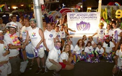 Members of Dayenu and the Jewish LGBT+ World Congress at the recent 2019 Sydney Gay and Lesbian Mardi Gras.