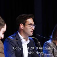 7-4-19. Macnamara electorate debate at Glen Eira Town Hall Josh Burns (ALP), . Photo: Peter Haskin