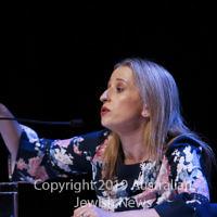 7-4-19. Macnamara electorate debate at Glen Eira Town Hall. Kate Ashmor (Lib). Photo: Peter Haskin