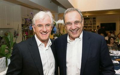 Steven Lowy (left) with Israeli ambassador Mark Sofer. Photo: Nadine Saacks
